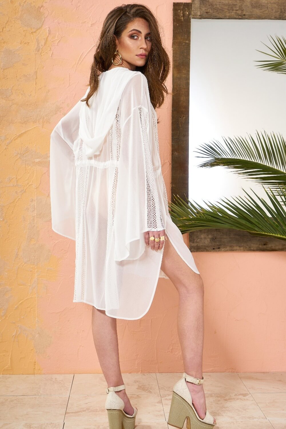 White Guipure Lace Boho Dress